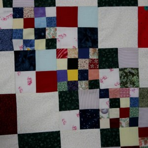 A detail of the All Square quilt
