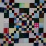 A detail of the center of the All Square quilt