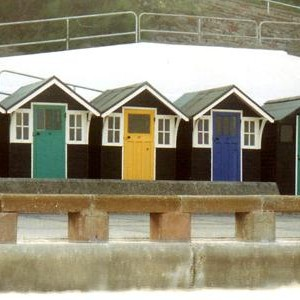 A Photograps of the Beach Huts at Lowestoft, Suffolk.