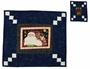 Log Cabin Table-Mat Set and Coaster pattern for Christmas