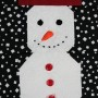 A detail of the snowman panel - a head and shoulders shot of the snowman.