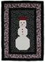 Snowman panel, a Christmas quilting project
