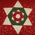 Folder Star Quilted Christmas Cushion Cover