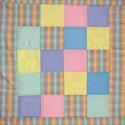 Squares And Bears Baby Patchwork Quilt Project.